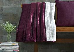 De Moocci Crushed Velvet Throw Blanket | Reversible Luxury S