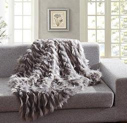 De Moocci Special Luxury Faux Fur Throw Blanket, Eyelash Pat