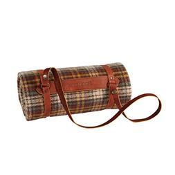 Pendleton Motor Robe Wool Throw with Leather Carrier, Whisky