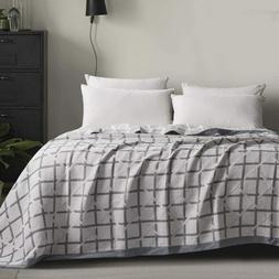 NTBAY Multilayer Muslin Natural Cotton Bed Blanket Bedding T