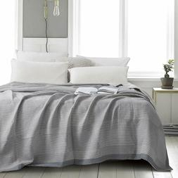 NTBAY Muslin Natural Cotton King Blanket, 106 x 92 Inches, G