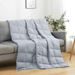 "50 x70"" Natural UltraFeather Lightweight Down Throw Blanket"