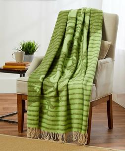 """New! 100% Cotton 55x79"""" Soft Reversible Throw Blanket Twin"""