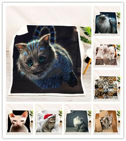 New 3D Cat style 3D Soft and comfortable Bed Blankets/Throws