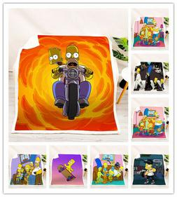 New 3D The Simpsons Soft and comfortable Crystal velvet Blan