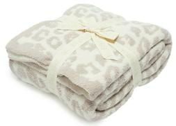NEW! Authentic Barefoot Dreams Throw Blanket in WILD Leopard