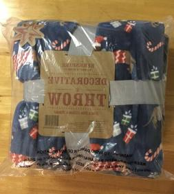 New Berkshire Decorative Throw Blanket Dachshund Dog Navy Bl