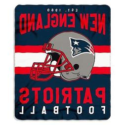 """NEW ENGLAND PATRIOTS BLANKET THROW 60"""" BY 50"""" SOFT LICENSED"""