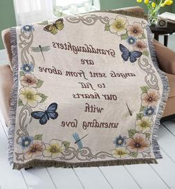NEW!  GRANDDAUGHTER BUTTERFLY TAPESTRY THROW BLANKET