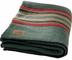 NEW Pendleton Green Heather Yakima Camp Wool Blanket Reversi