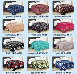 new light weight throw soft flannel blanket