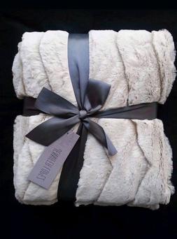 new luxury faux fur ivory gray mink