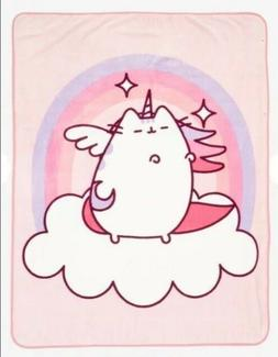 New Pusheen Cat Pegasus Throw Pink Purple Unicorn Blanket Ra