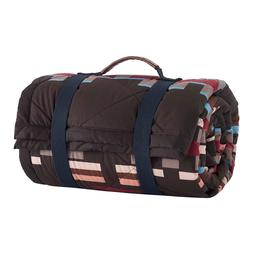 *NEW* Pendleton Roll Up Throw Picnic Quilted Blanket, Brown