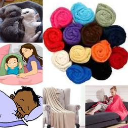 BED SOLID REVERSIBLE FURNITURE THROW MULTIPURPOSE SMALL BLAN