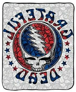 New Thick Paisley Grateful Dead Steal Your Face Plush Fleece