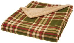 Northpoint Newport Rustic Plaid Rebersible Mink Fur Throw, G