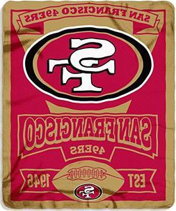 New Northwest NFL San Francisco 49ers Large Soft Fleece Thro