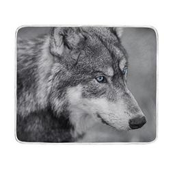 ALAZA North American Gray Wolf Blanket Luxury Throw Personal