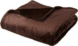 """Northpoint Cashmere Plush Velvet Throw, Teal, 50"""" x 60"""", New"""