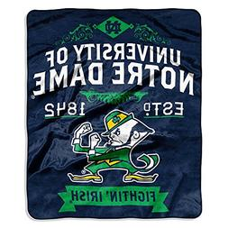 Notre Dame Fighting Irish NCAA Royal Plush Raschel Blanket