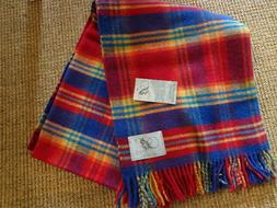 NWT Blanket Throw Bronte by Moon Block Check New Wool 72 x 5