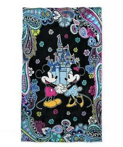 NWT Vera Bradley Disney Mickey & Minnie Castle Paisley Celeb