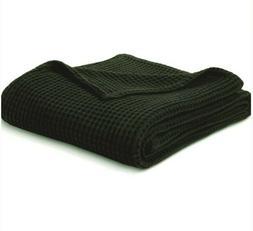 NWT Ebony Black Threshold Waffle Weave Blanket Extra Soft Tw