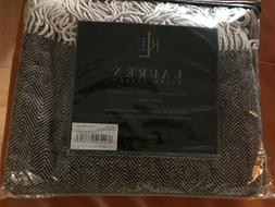 NWT Ralph Lauren Herringbone Wool/Cashmere Throw Blanket Bro