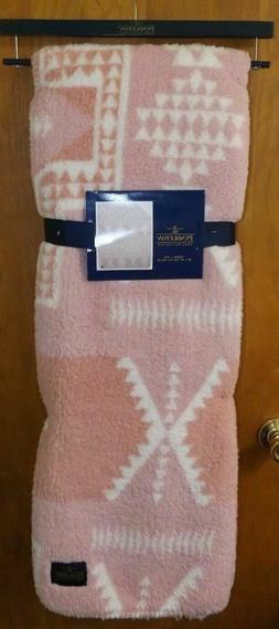 "NWT Pendleton Home Collection 50"" x 70"" Pink & White Tribal"