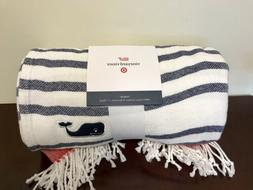 NWT New VINEYARD VINES for TARGET STRIPED THROW BLANKET Navy