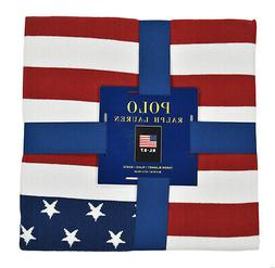 "***NWT***  Polo Ralph Lauren ""RL 67"" USA FLAG Throw Blanket"