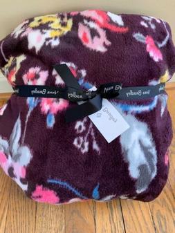 NWT Vera Bradley Throw Blanket Indiana Rose Floral Fleece 80
