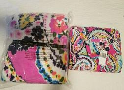 NWT Vera Bradley Wildflower Paisley Blanket Throw Hanging Tr