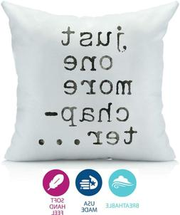 Oh, Susannah Just One More Chapter Pillow Cover - Library Bo