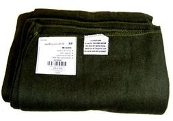 Olive Green Wool Survival Blanket Emergency Camping Military