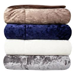 Olivia Crushed Velvet Throw Blanket by Sweet Home Collection