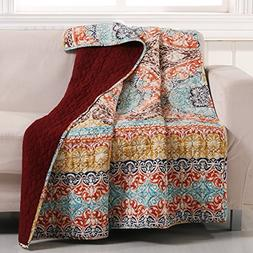 Barefoot Bungalow Olympia Quilted Throw