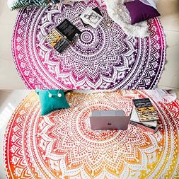 Set of 2 Beach Blanket Mandala Tapestry Hippie Indian Mandal