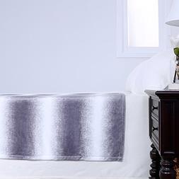 Berkshire Blanket Ombre Plush Velvetloft Decorative Throw Bl