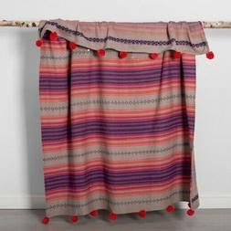 Opalhouse Global Geo Stripe Throw Blanket   Cotton