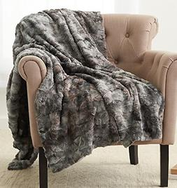 OpenBox Faux Fur Throw Blanket Soft 100% Polyester Imported