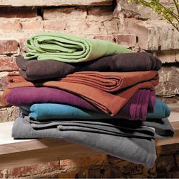 IBENA Organic Cotton Reversible Woven Throw Blanket Stockhol