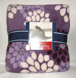 Berkshire Over Size Serasoft Fleece Throw Blanket Purple Flo