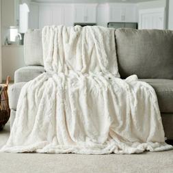 Oversized Blanket Softest Warm Elegant Cozy Faux Fur Home Th