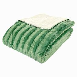 Cozy Fleece Oversized Luxury Solid Mink Throw Blanket with S