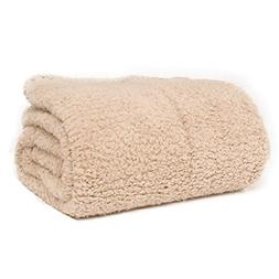 "Battilo Oversized Plush Sherpa Large Throw Blanket 98"" L x 7"