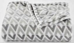 The Big One Oversized Plush Soft Throw Blanket 5' x 6' GRAY