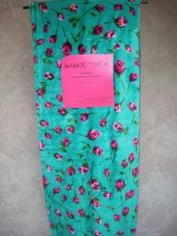 Betsey Johnson Oversized Throw Blanket  Blue/Green/Pink Flor