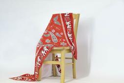 """Paisley Elephant Red Mircofleece Throw Blanket 50""""x60"""""""